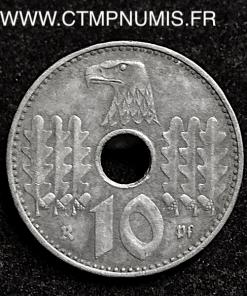 ALLEMAGNE 10 PFENNIG ZINC III° REICH 1940 A TTB