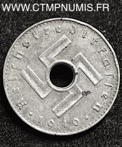 ALLEMAGNE 5 PFENNIG ZINC III° REICH 1940 A TTB