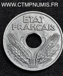 20 CENTIMES ZINC ETAT FRANCAIS 1942 SUP