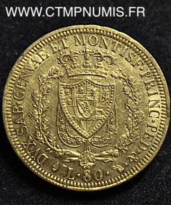80,LIRE,OR,CHARLES,FELIX,1826,TURIN,