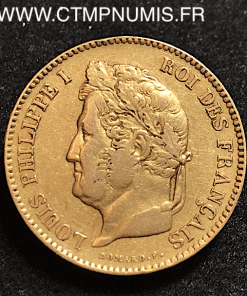 40 FRANCS OR LOUIS PHILIPPE I° 1832 B ROUEN