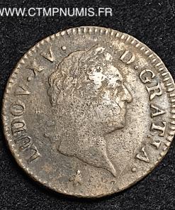 LOUIS XV SOL A LA VIEILLE TETE 1772 M TOULOUSE