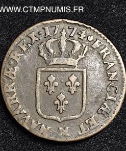 LOUIS XV SOL A LA VIEILLE TETE 1774 M TOULOUSE
