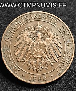 TANZANIE ALLEMAGNE 1 PESA 1892