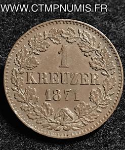 ALLEMAGNE BADEN 1 KREUZER 1871