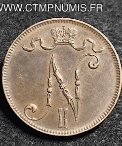 FINLANDE 5 PENNIA BRONZE 1899