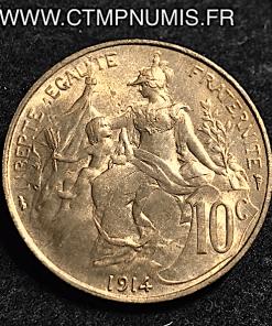 10 CENTIMES DANIEL DUPUIS 1914 SUP