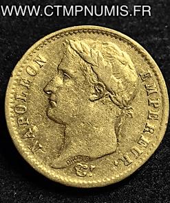20 FRANCS OR NAPOLEON I° REPUBLIQUE 1808 A PARIS