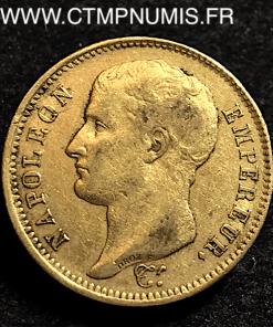 40 FRANCS OR NAPOLEON I° TETE NUE 1807 A PARIS