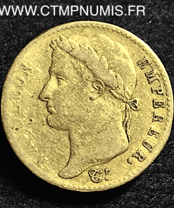 20 FRANCS OR NAPOLEON CENT-JOURS 1815 BAYONNE