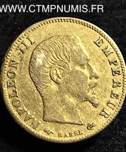 5 FRANCS OR NAPOLEON III TETE NUE 1860 A PARIS