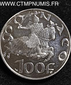 MONACO 100 FRANCS ARGENT GRIMALDI 1297 1997
