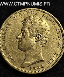 ITALIE 100 LIRE OR CHARLES ALBERT 1834 TURIN