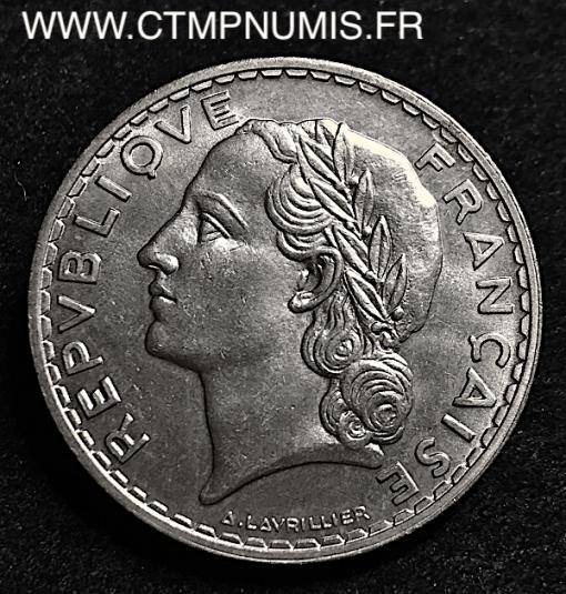 5 FRANCS LAVRILLIER NICKEL 1933 SPL/FDC