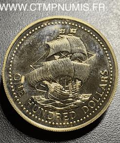 ,BARBADE 100 DOLLARS OR 1625 1975