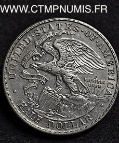 USA 1/2 DOLLAR ARGENT LINCOLN ILLINOIS 1918 TTB