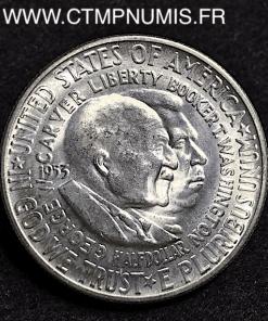 USA 1/2 DOLLAR ARGENT CARVER WASHINGTON 1953 S SPL