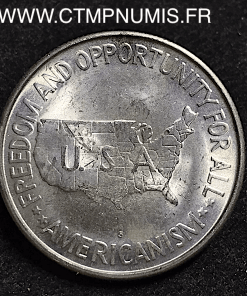USA 1/2 DOLLAR ARGENT CARVER WASHINGTON 1953 S
