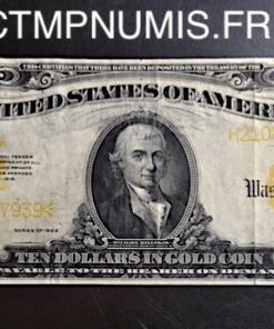 USA BILLET 10 DOLLARS SERIE 1922