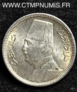 EGYPTE 2 PIASTRES ARGENT FUAD 1929 SPL