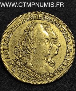 BRESIL 6400 REIS OR MARIA I ET PEDRO III 1778 R RIO