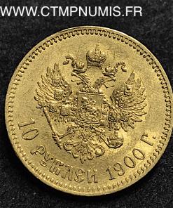 RUSSIE 10 ROUBLES OR NICOLAS II 1900