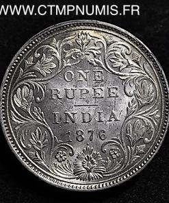 INDES 1 RUPEE ARGENT VICTORIA 1876 BOMBAY