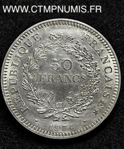 50 FRANCS ARGENT HERCULE AVERS 20 FRANCS 1974