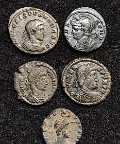EMPIRE ROMAIN LOT DE 5 NUMMUS A ETUDIER