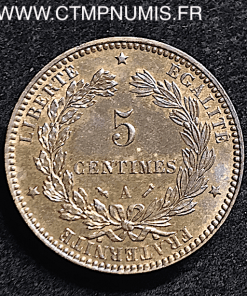 5 CENTIMES CERES 1891 A PARIS SUP+