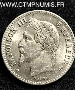 50 CENTIMES ARGENT NAPOLEON III 1867 A PARIS