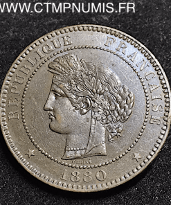 10 CENTIMES CERES 1880 A PARIS TTB+