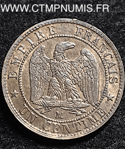 1 CENTIME NAPOLEON TETE NUE 1854 MA MARSEILLE