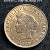 1 CENTIME CERES 1887 A PARIS SUP