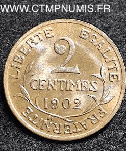 2 CENTIMES DANIEL DUPUIS 1902 SPL