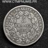 5 FRANCS CERES ARGENT 1850 K BORDEAUX