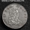 LOUIS XV 1/3 ECU DE FRANCE ARGENT 1721 W LILLE