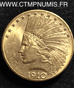 USA 10 DOLLAR OR EAGLES INDIEN 1910 D DENVER
