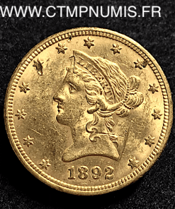 USA 10 DOLLAR OR EAGLES 1892