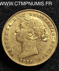 AUSTRALIE SOUVERAIN OR VICTORIA 1870 SYDNEY