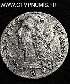 LOUIS XV 1/10 ECU ARGENT BANDEAU 1759 TOULOUSE