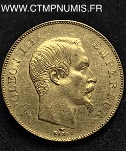 50 FRANCS OR NAPOLEON III TETE NUE 1857 PARIS