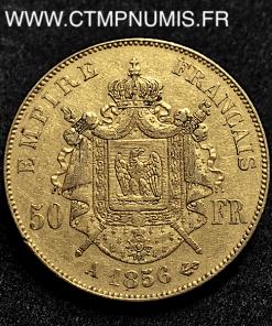 50 FRANCS OR NAPOLEON III TETE NUE 1856 PARIS