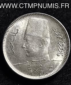 EGYPTE 2 PIASTRES ARGENT 1937