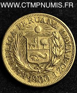 PEROU 1 LIBRA OR VERDAD I° 1900