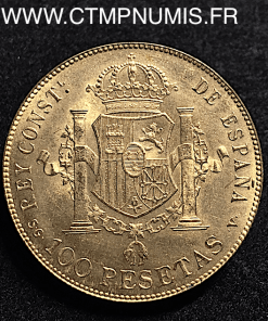 ESPAGNE 100 PESETAS ALPHONSE XIII 1897 (1962)