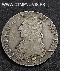 LOUIS XVI ECU ARGENT 1789 L BAYONNE