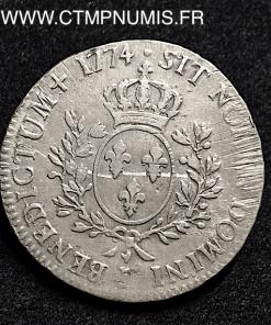 LOUIS XV ECU A LA VIEILLE TETE 1774 I LIMOGES