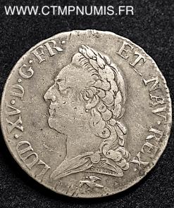 LOUIS XV ECU A LA VIELLE TETE 1774 D LYON