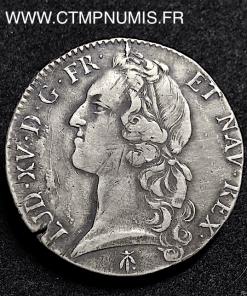 LOUIS XV ECU AU BANDEAU 1769 M TOULOUSE